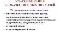 Классификация злокачественных опухолей