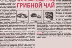 Рецепт противоопухолевого чая